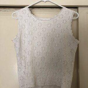Tops - Stretchy white tank top
